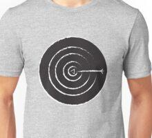 White BULLSEYE on Black Unisex T-Shirt