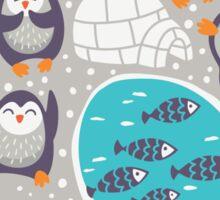 Winter penguins Sticker