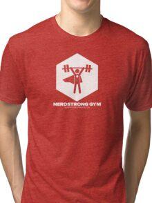 Nerdstrong Gym Logo Tri-blend T-Shirt