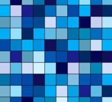 Blue square tiles  Sticker