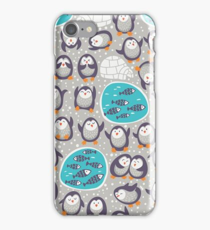 Winter penguins iPhone Case/Skin