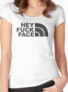 Hey Fuck Face Women's Fitted Scoop T-Shirt