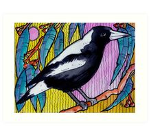 The Happy Magpie - Kerry Beazley Art Print