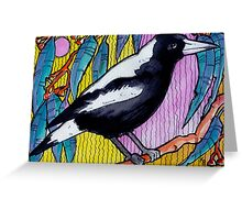 The Happy Magpie - Kerry Beazley Greeting Card