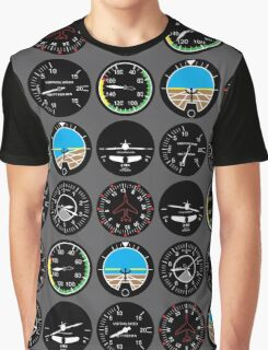Flight Instruments Graphic T-Shirt
