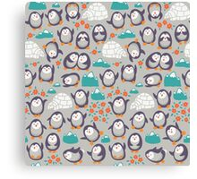 Summer penguins Canvas Print