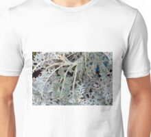 Light green leaves, natural background. Unisex T-Shirt