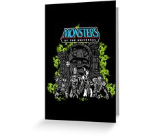 Monsters Of The Universal Greeting Card