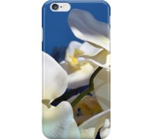White plastic flowers. iPhone Case/Skin