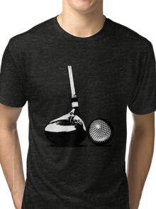 Golf Club and Golf Ball  Tri-blend T-Shirt