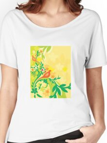 Fantasy bird pattern Women's Relaxed Fit T-Shirt