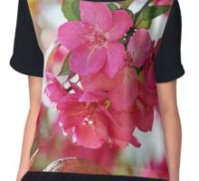 A branch of Crabapple flowers Chiffon Top