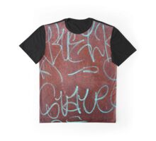 Calligraffiti Urban Rust Patina Texture Graphic T-Shirt