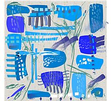 Chaotic  Mid-Century Abstract by Gail Gabel, LLC
