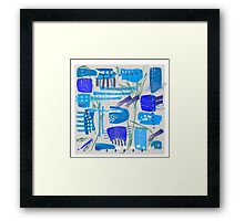 Chaotic  Mid-Century Abstract Framed Print