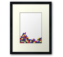 Tetris design Framed Print