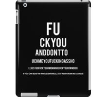 Eye Test Chart iPad Case/Skin