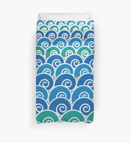 Blue Beach Waves Duvet Cover