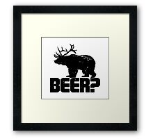 Bear Beer Framed Print