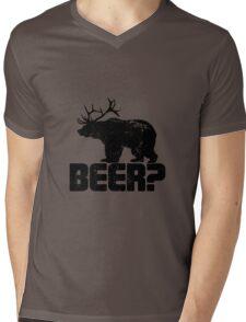 Bear Beer Mens V-Neck T-Shirt