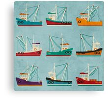 Fishing Trawlers Canvas Print