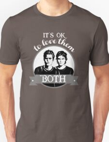 TVD. It's OK to love them both. Unisex T-Shirt