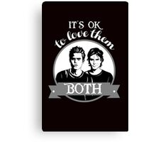 TVD. It's OK to love them both. Canvas Print