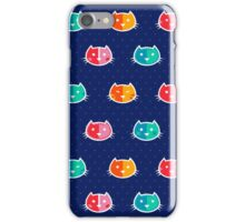 Chromatic Cats Pattern iPhone Case/Skin