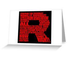 Team Rocket Typography Greeting Card