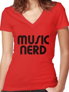 Music nerd Women's Fitted V-Neck T-Shirt