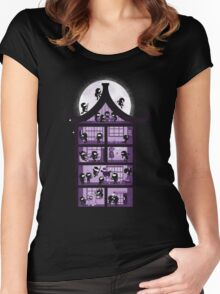 A House full of Ninjas Women's Fitted Scoop T-Shirt