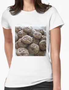 Chocolate chip cookies Womens Fitted T-Shirt