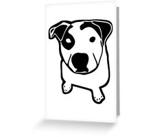 Bull Pit T-Bone Baby Contrast One Piece Greeting Card