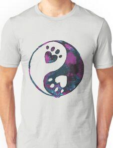 Blue Yin-Yang Paw Watercolor Unisex T-Shirt