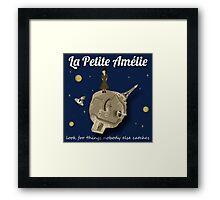 La Petite Amelie (monotone) Framed Print