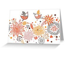 Combination of exquisite bird pattern Greeting Card