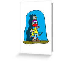 """Rick the chick """"INDIAN CHICK"""" Greeting Card"""