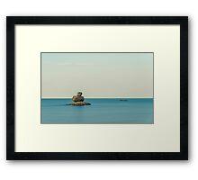 Evening landscape on the beach Framed Print