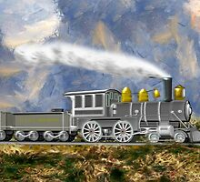 An Early American Steam Locomotive by Dennis Melling