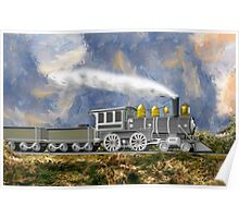 An Early American Steam Locomotive Poster