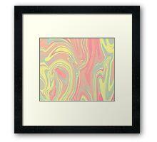 Pink Ink Framed Print