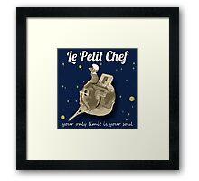 Le Petit Chef (monotone) Framed Print