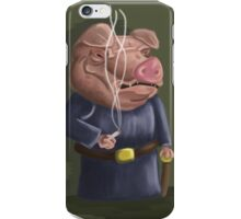 Smoking Pig iPhone Case/Skin