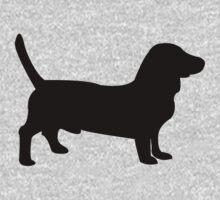 Bull terrier dog silhouette Kids Tee