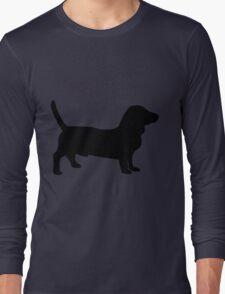Bull terrier dog silhouette Long Sleeve T-Shirt