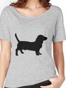 Bull terrier dog silhouette Women's Relaxed Fit T-Shirt