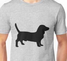 Bull terrier dog silhouette Unisex T-Shirt