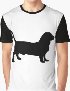 Bull terrier dog silhouette Graphic T-Shirt
