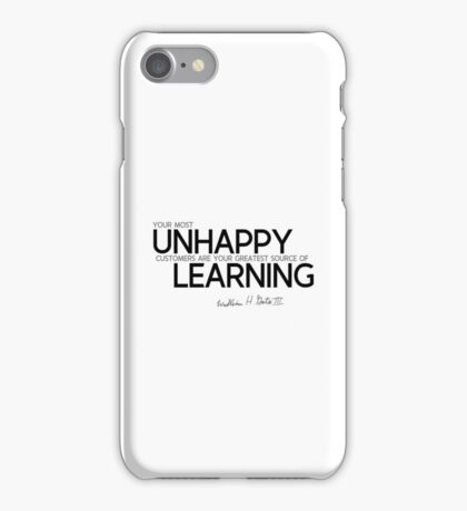 unhappy: source of learning - bill gates iPhone Case/Skin