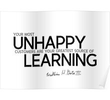unhappy: source of learning - bill gates Poster